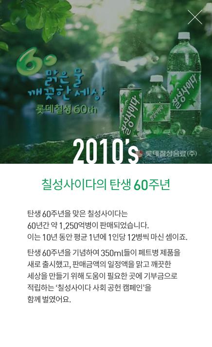 2010's 칠성사이다의 탄생  60주년